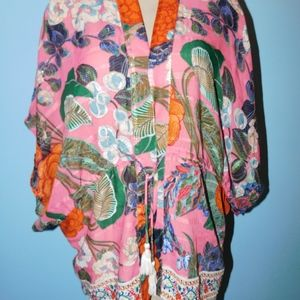 Free People Jackets & Coats - Free People Enchanted Blooms Printed Kimono